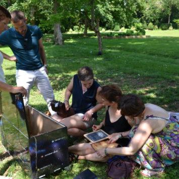 Joueurs de l'escape game mobile organisé par Arcanium